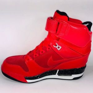 5f67755979 Nike Shoes - Womens Nike Air Revolution Sky Hi Action Red Shoes